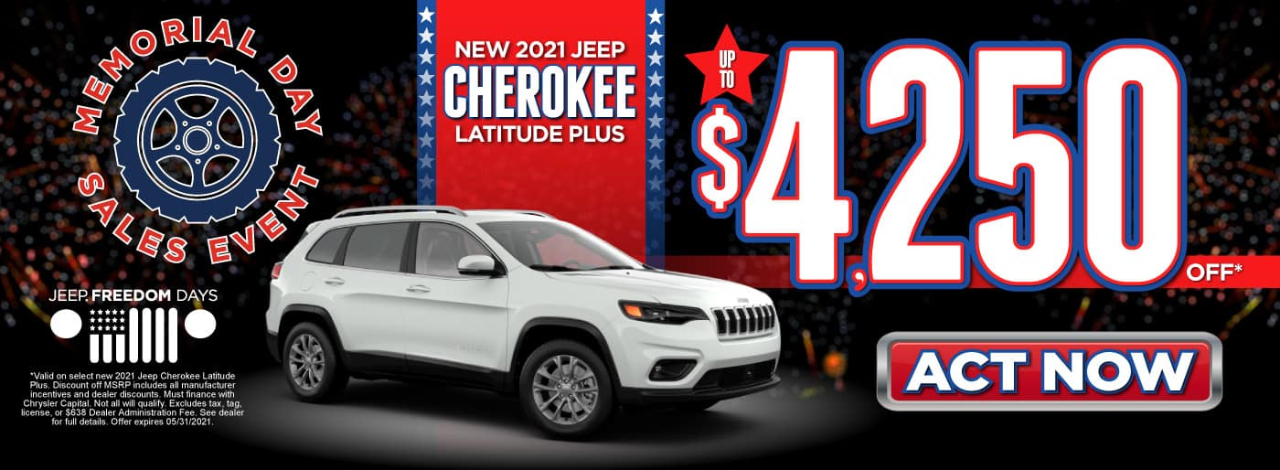 New 2021 Jeep Cherokee Latitude Plus - Up to $4,250 Off - ACT NOW