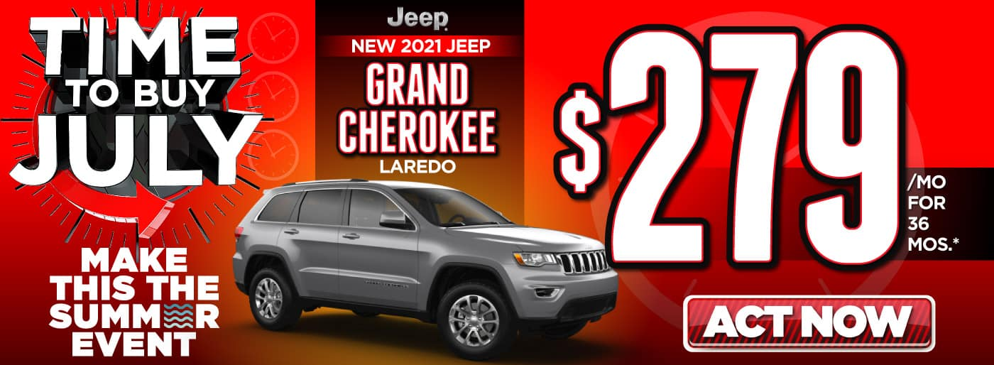 2021 Jeep Grand Cherokee $279 a month   Act Now