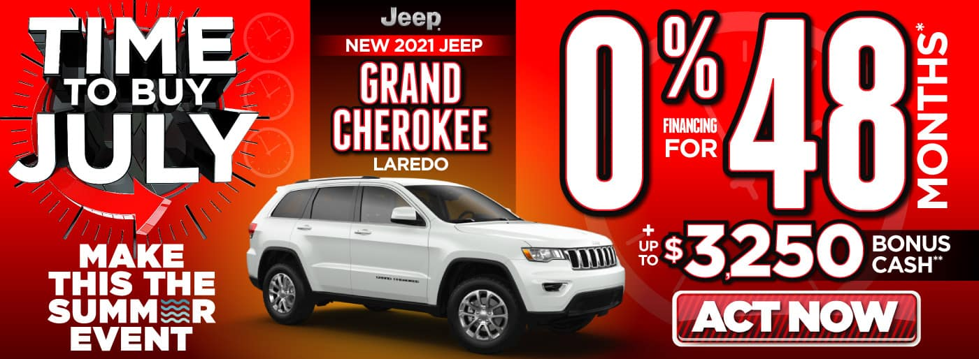 2021 Jeep Grand Cherokee 0% for 84 month   Act Now