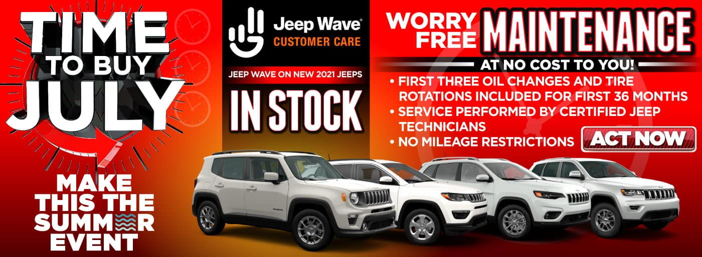 Jeep Waive Customer Care  worry free maintenance   Act Now