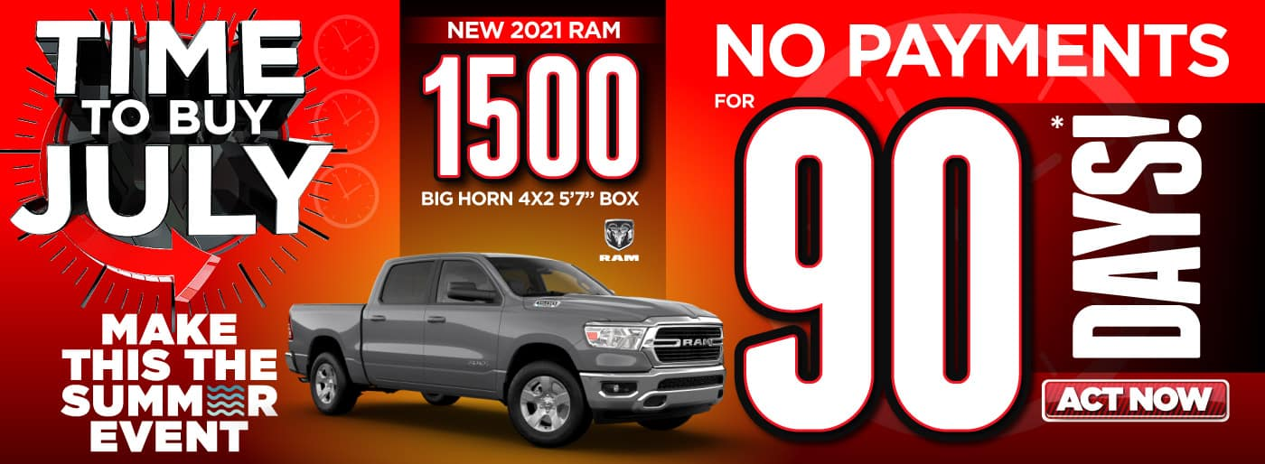 2021 RAM 1500 No Payments for 90 days   Act Now