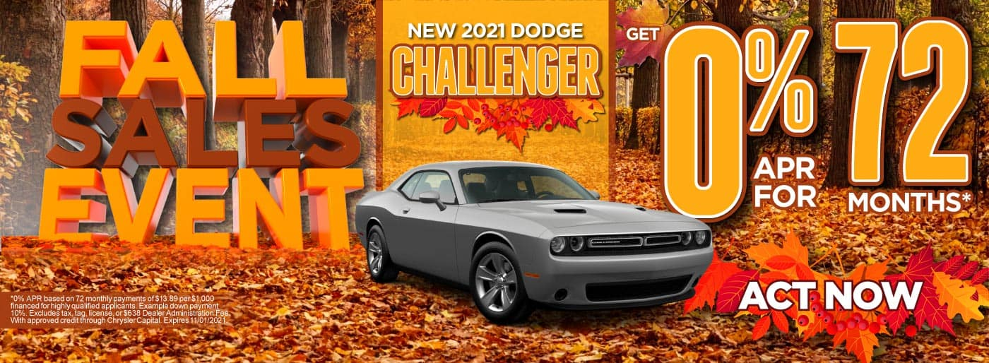 New 2021 Dodge Callenger - 0% APR for 72 months - ACT NOW