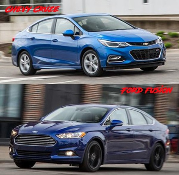 Sedan Comparison Chevy Cruze V Ford Fusion