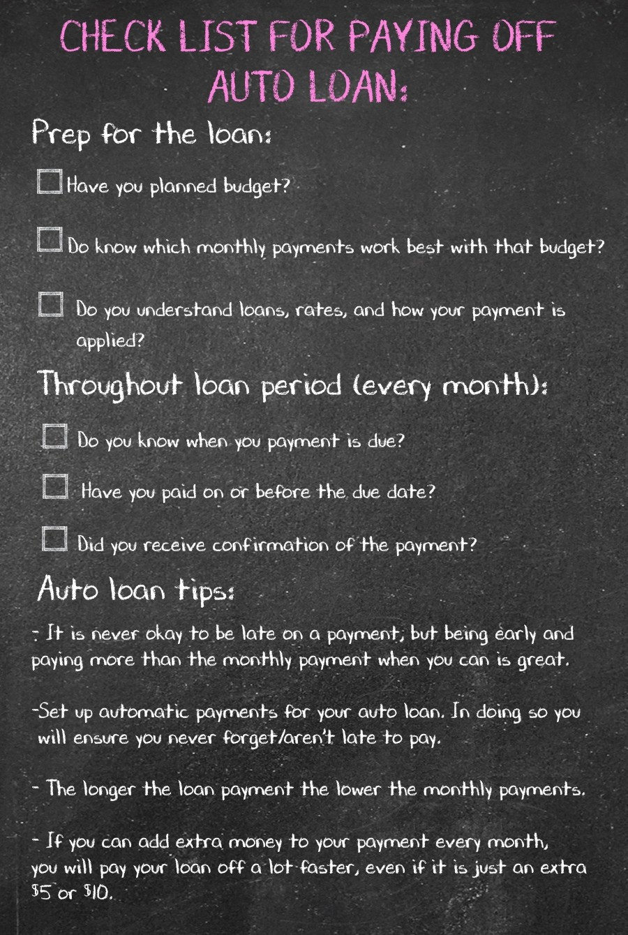 pay off a loan advice