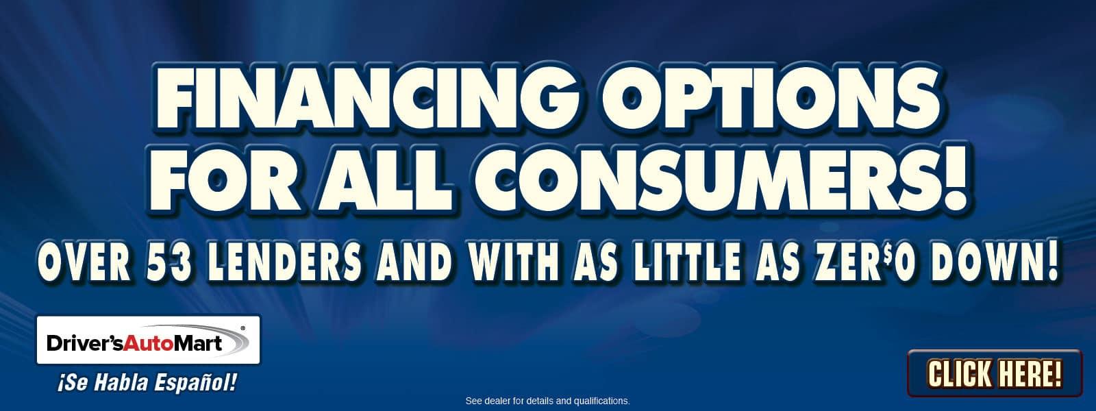 Financing Options!