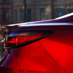 Red 2019 Mazda6 right taillight close-up