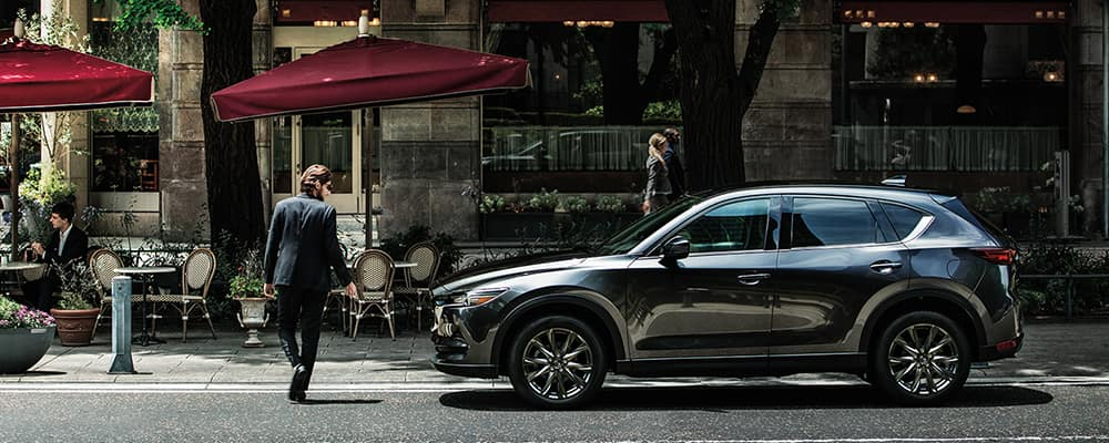 2020-mazda-cx-5 grey parked on street