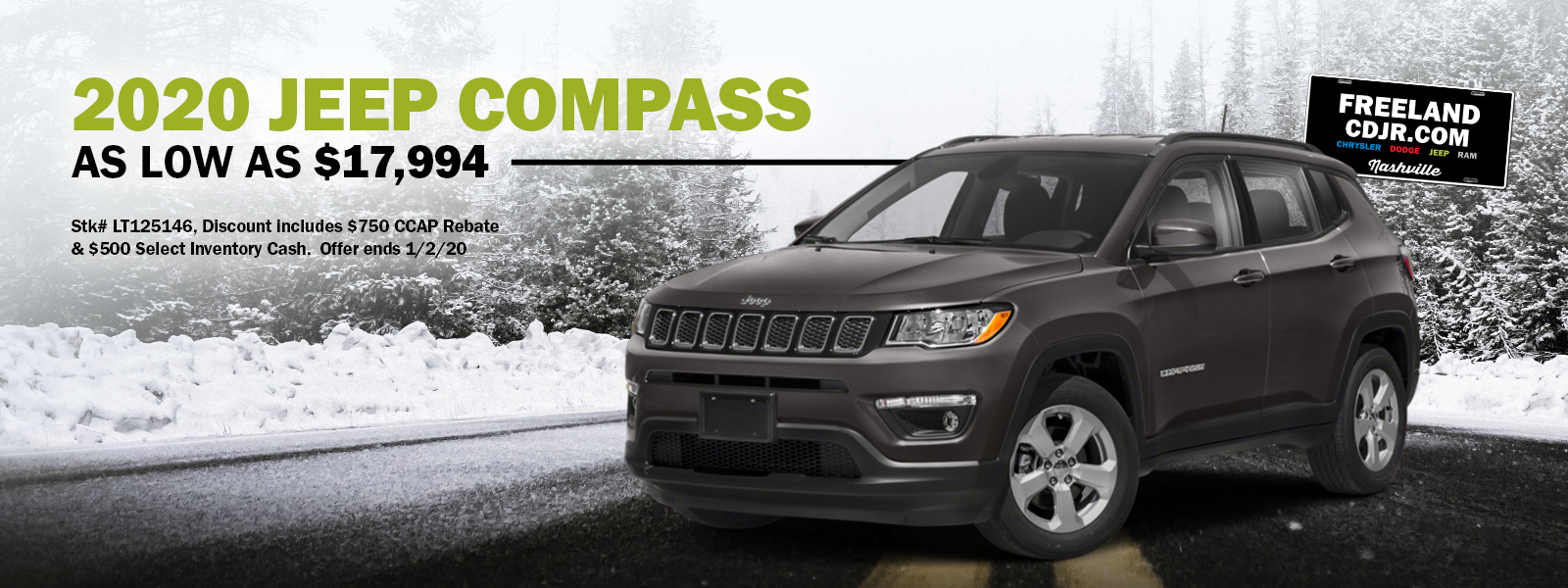 Low Priced 2020 Jeep Compass