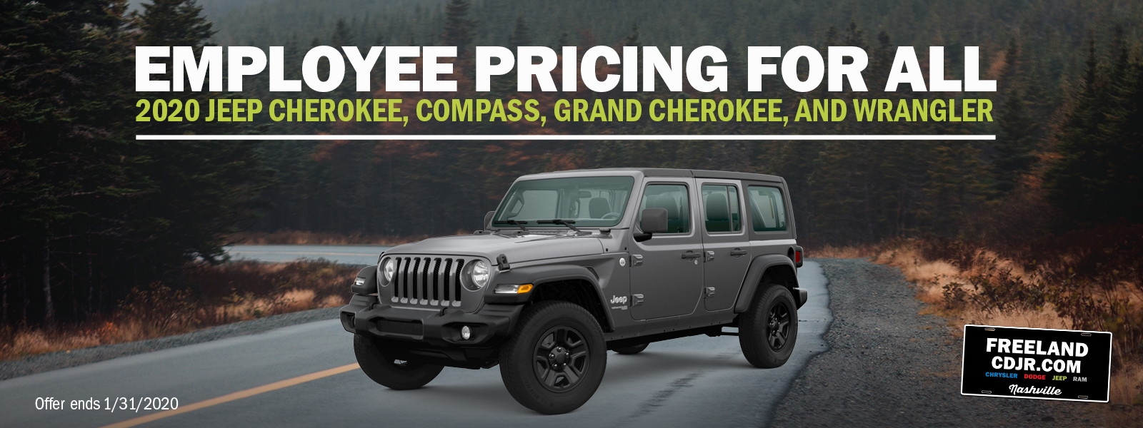 2020 Jeep Employee Pricing
