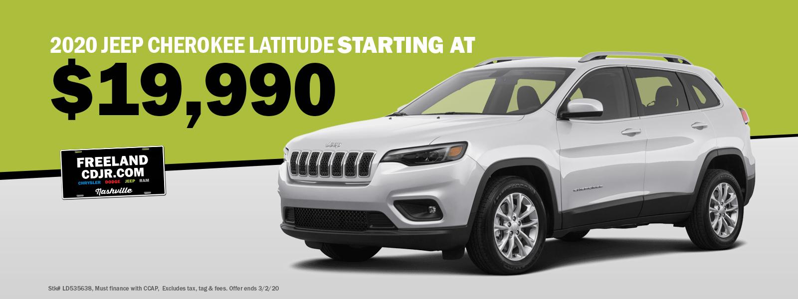 Jeep Latitude Specials