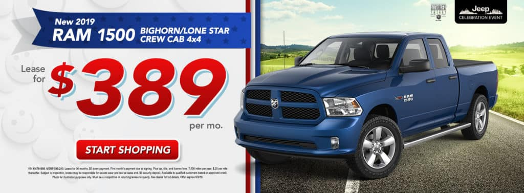 NEW 2019 RAM 1500 BIG HORN/LONE STAR CREW CAB