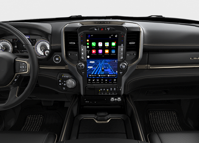 Ram 2500 12-inch touchscreen display