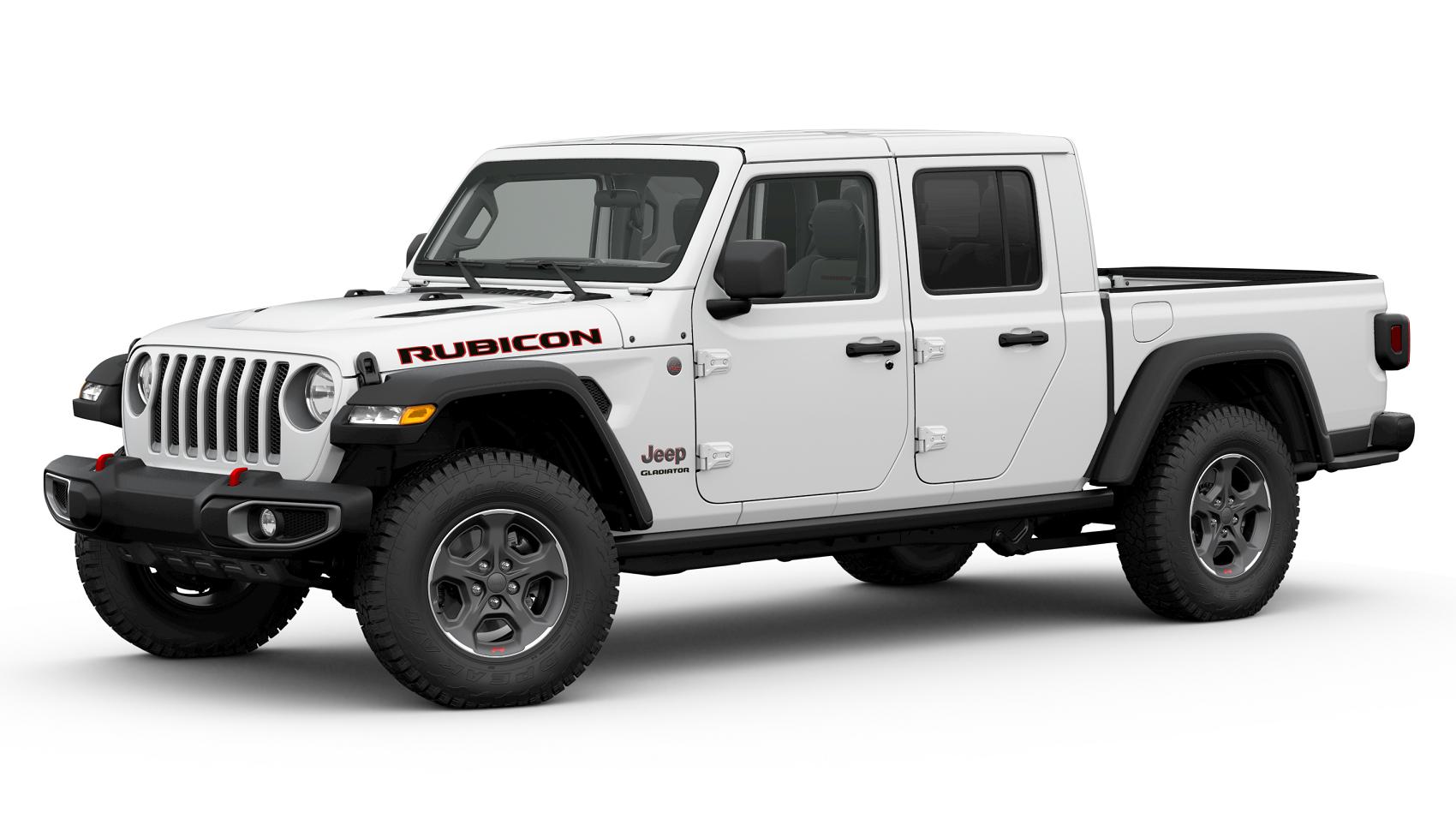 2020 Jeep Gladiator White Exterior