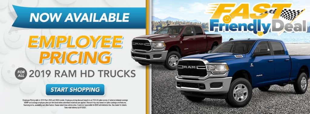 Employee Pricing for All on 2019 Ram HD Trucks