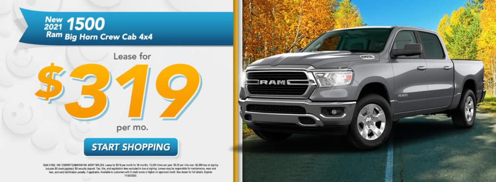 NEW 2021 RAM 1500 BIG HORN CREW CAB 4X4 5'7