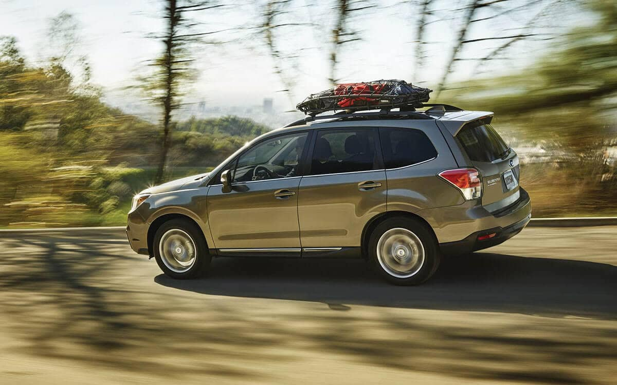 2018 Subaru Forester Exterior Driving with Roof Rack