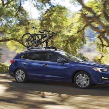2018 Subaru Impreza 5-Door Exterior Driving with Bike Roof Rack