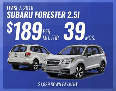 Lease a 2018 Forester 2.5i