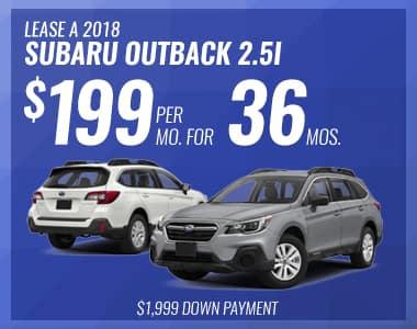 Lease a 2018 Outback 2.5i