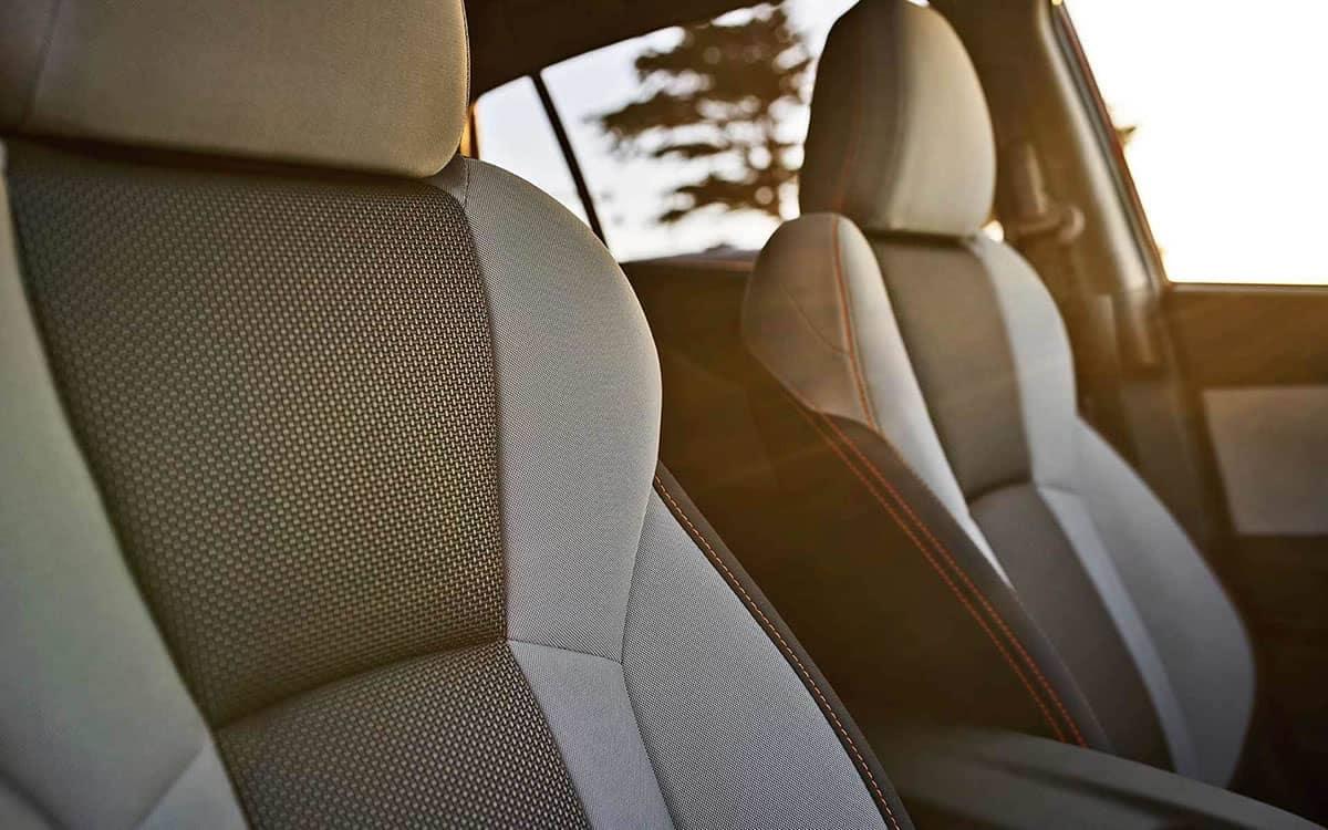2019 Subaru Crosstrek Closeup of Front Interior Seating