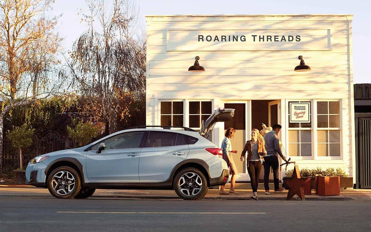 2019 Subaru Crosstrek Parked Outside a Country Store