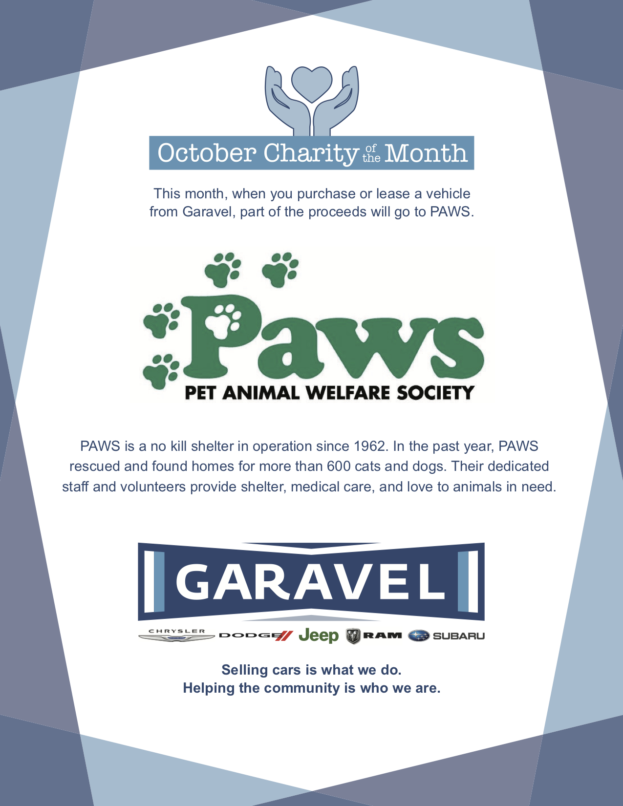 October Charity of the Month