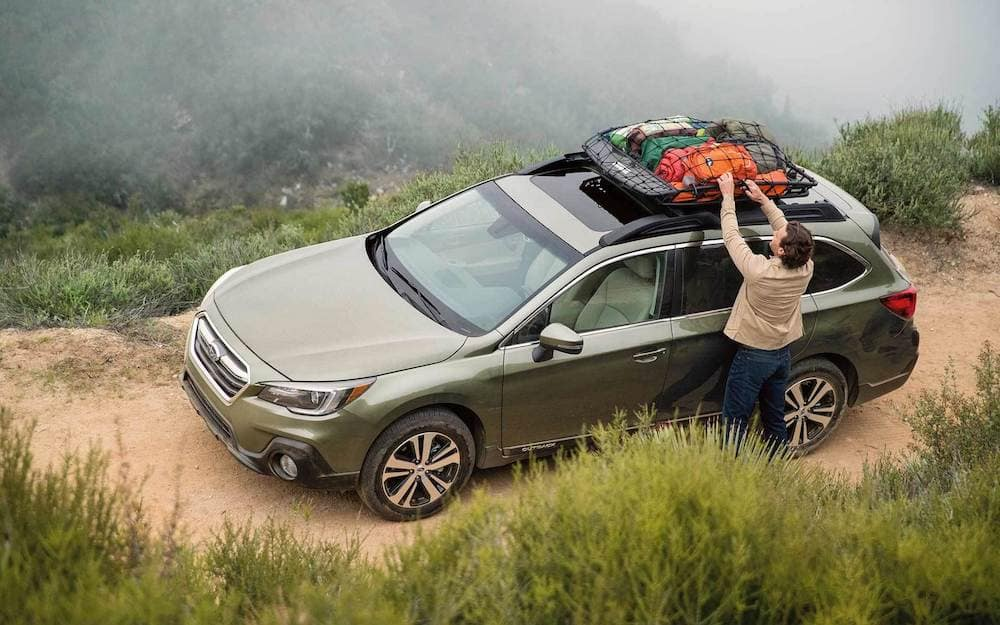 2019 Subaru Outback with roof rack