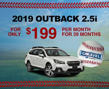 2019 Outback 2.5i for only $199 per month for 39 months