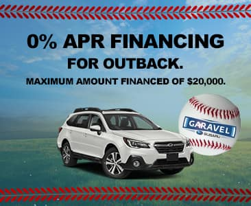 0% APR financing for Outback