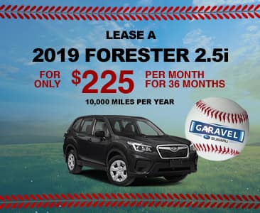 Lease a 2019 Forester 2.5i for only $225 per month for 36 months