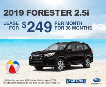 <center>Lease a 2019 Forester 2.5i for $249 Per Month<center>