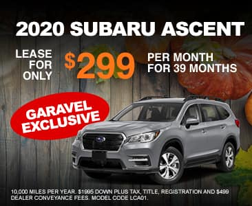 <center>Lease a 2020 Ascent for $299 Per Month<center>