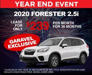 <center>2020 Forester 2.5i for $239 per month<center>