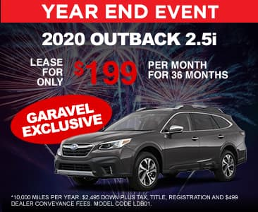 <center>Lease a 2020 Outback 2.5i for $199 per month<center>