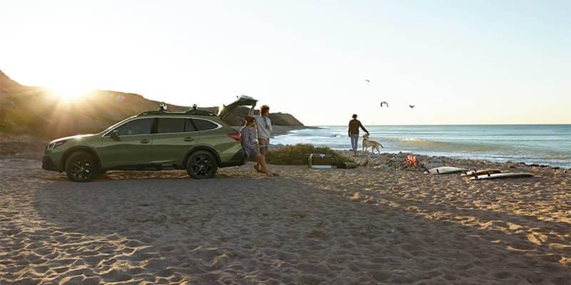 Subaru Outback Parked on Beach