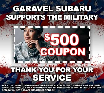 <center>Garavel Subaru Supports the Military<center/>