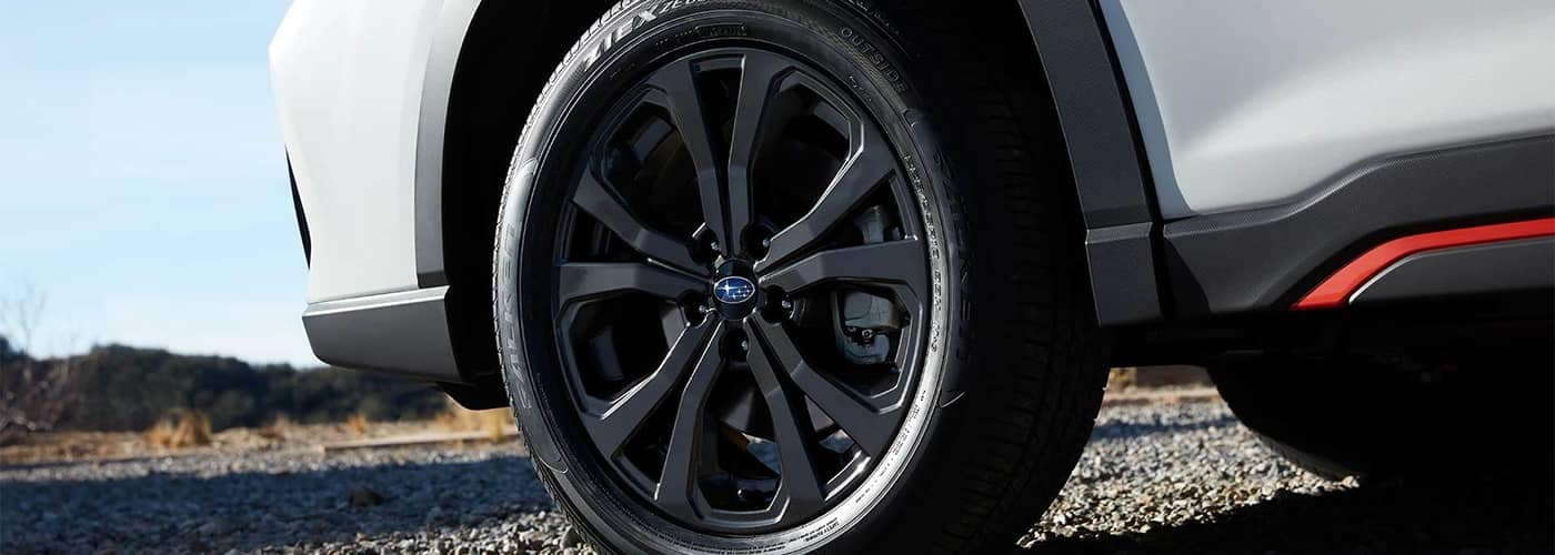 Subaru Crosstrek Closeup of Tire