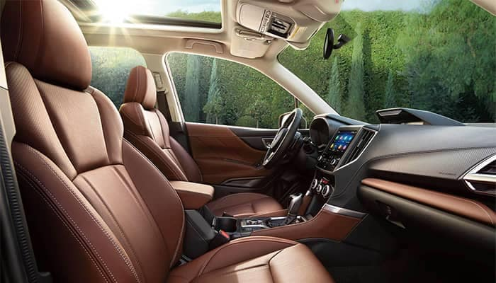 Subaru Forester Interior Front Seating and Dashboard