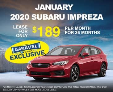 <center>2020 Impreza for $189 per month<center>