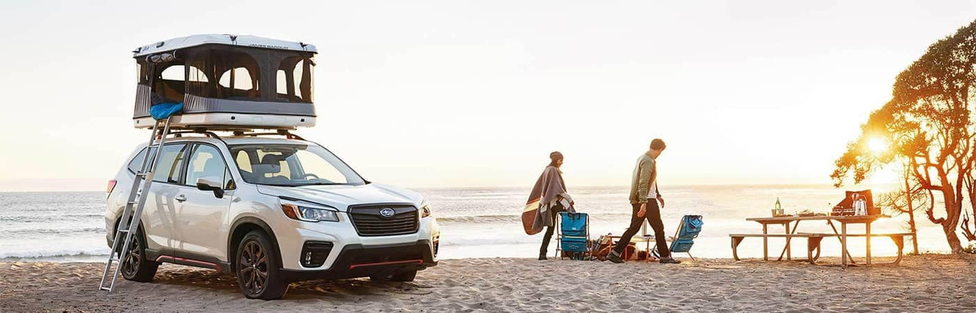 Subaru Forester Camping on Beach
