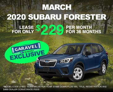 <center>2020 Forester for $229 per month<center>