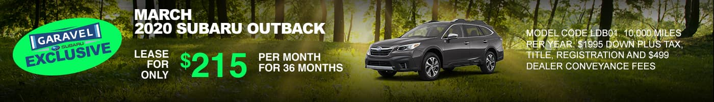 Lease a Subaru Outback for $215 per month