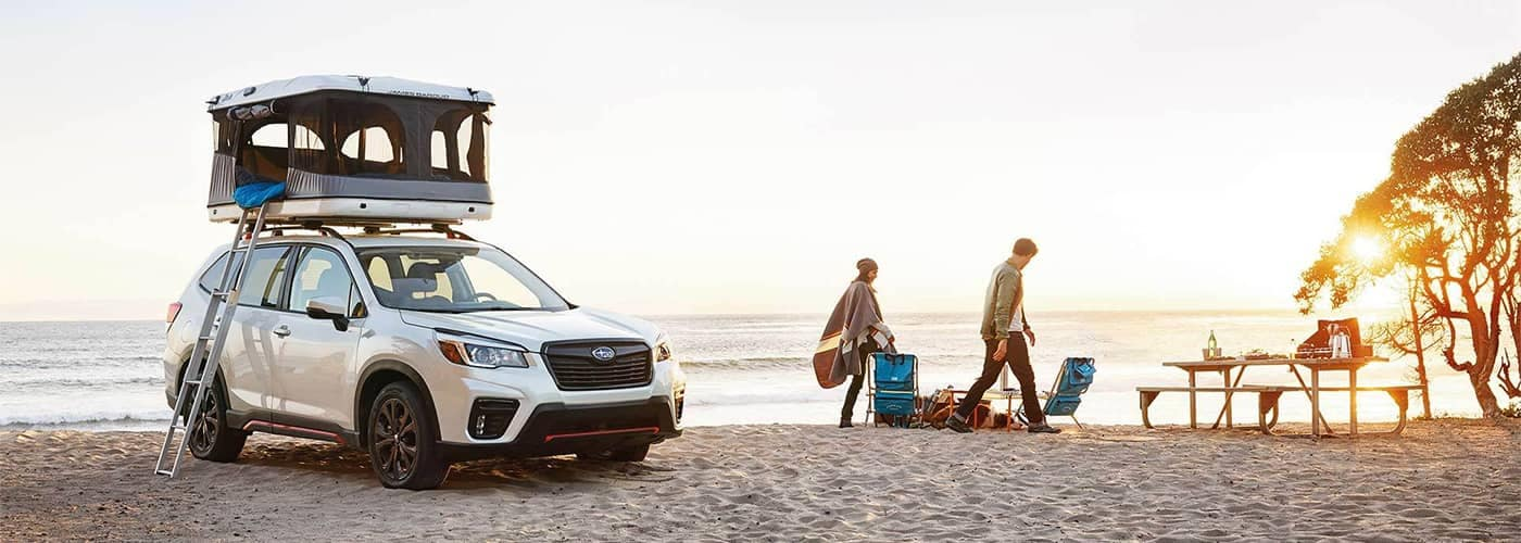 Subaru Forester Camping on the Beach