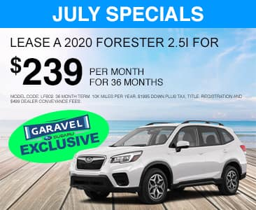 <center>Lease a 2020 Subaru Forester for $239 per month for 36 months<center>