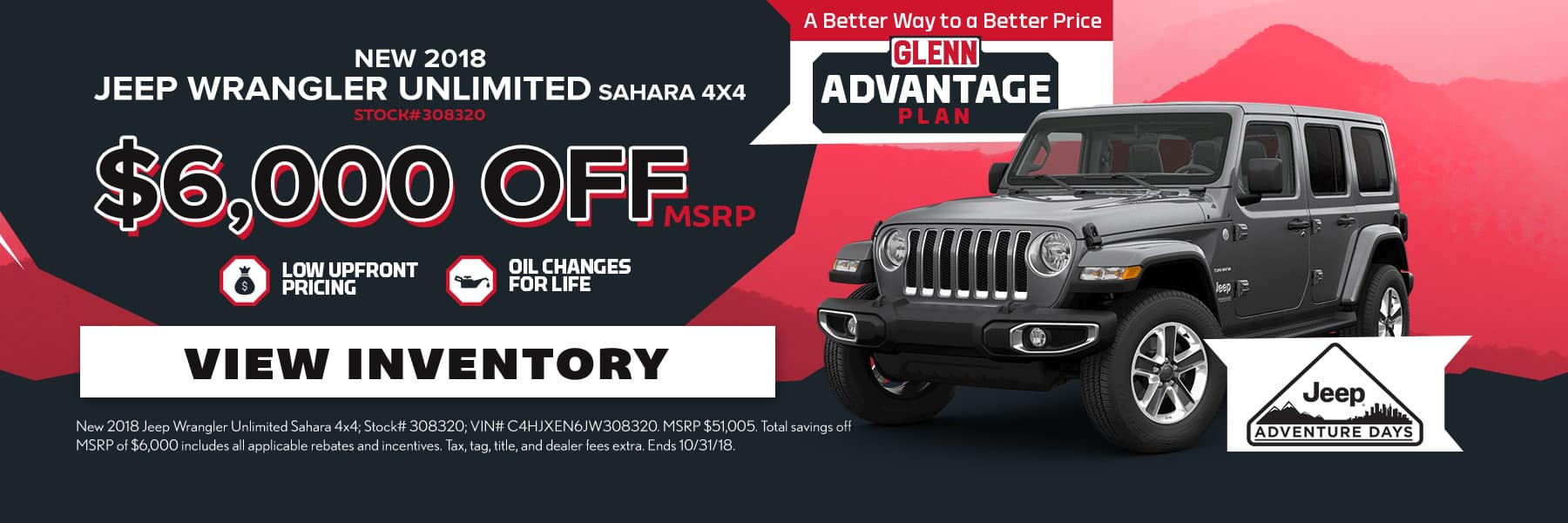 2018 Jeep Wrangler Unlimited Offer Oct18