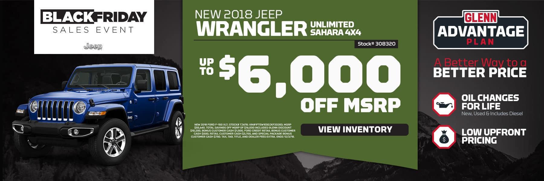 Black Friday Sale Jeep Wrangler