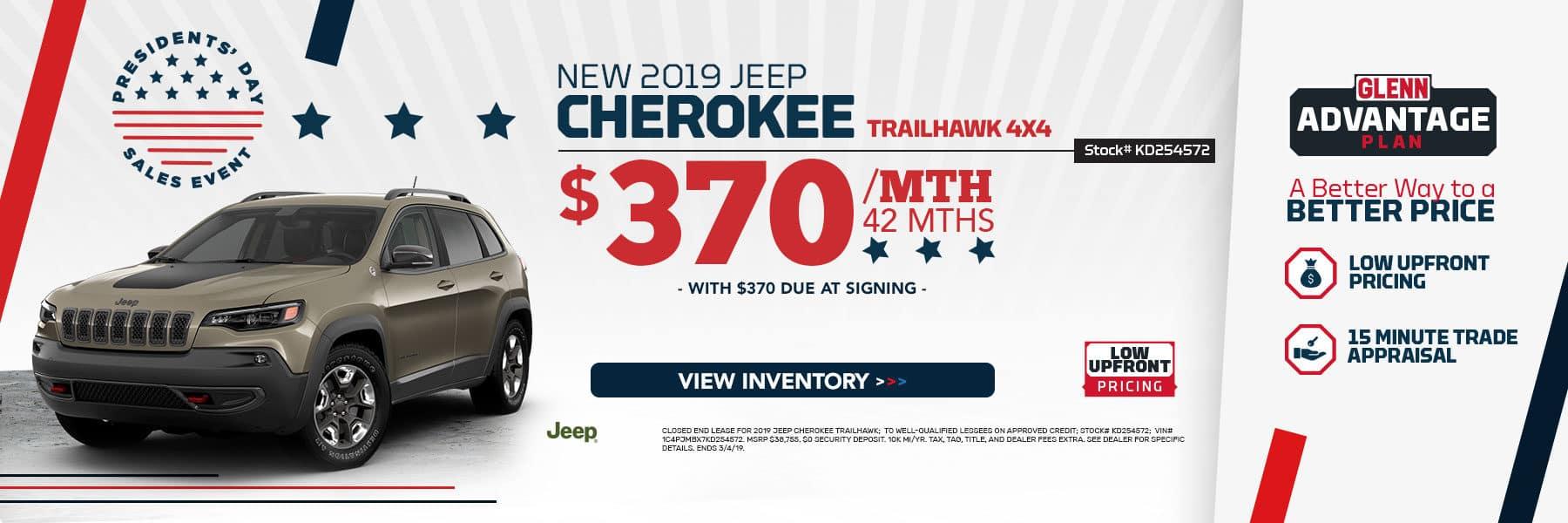 New 2019 Jeep Cherokee!