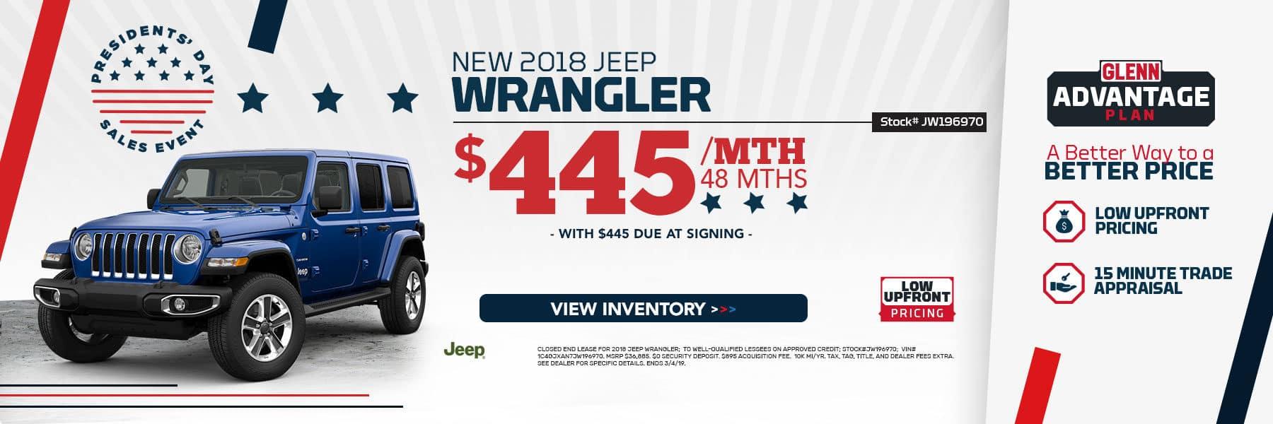 New 2018 Jeep Wrangler!