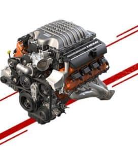 2019-dodge-challenger-engine-Supercharged 6.2L Hemi SRT Hellcat V8