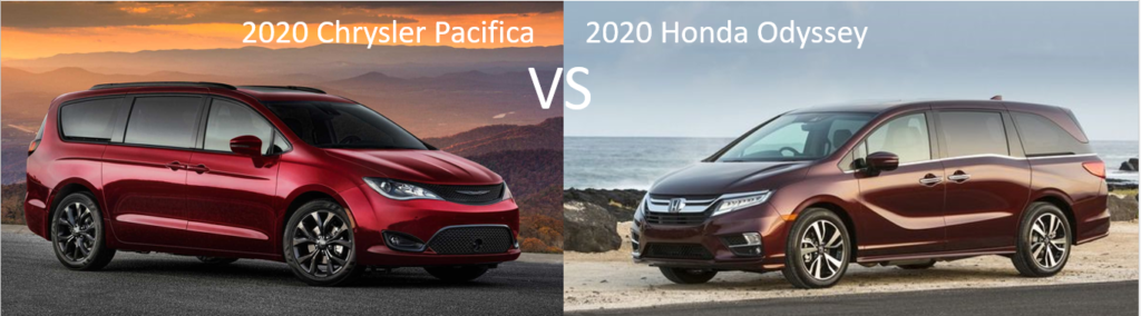 2020 Chrysler Pacifica vs 2020 Honda Odyssey